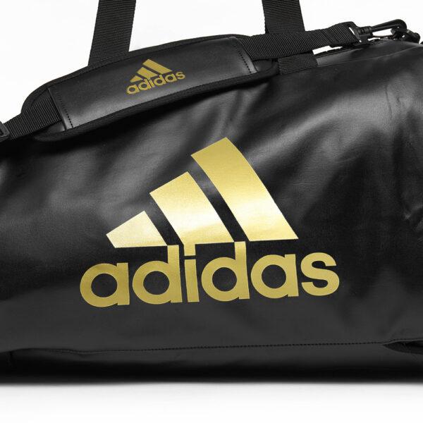 Adidas sporttas en rugzak Budo | PU-leer | zwart goud
