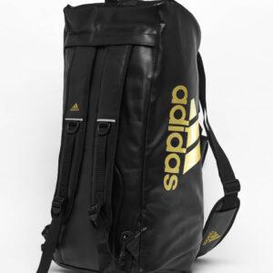 Adidas 2 in 1 Sporttas maat M Zwart/Goud Budo