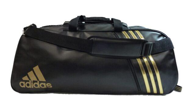 Adidas sporttas en rugzak Judo | PU-leer | zwart goud