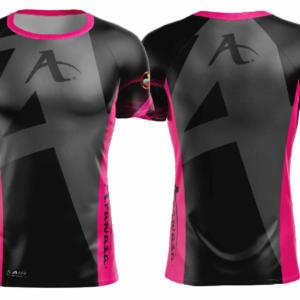 T-shirt Arawaza | dry-fit | zwart-roze