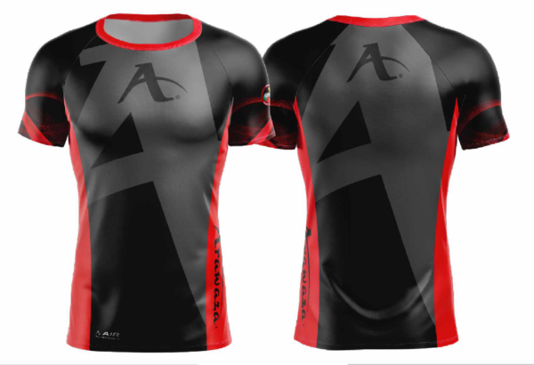 T-shirt Arawaza | dry-fit | zwart-rood