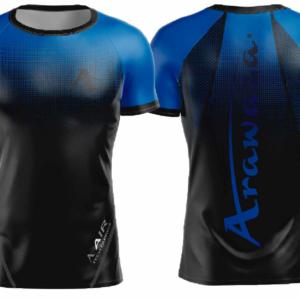T-shirt Arawaza | dry-fit | zwart-blauw