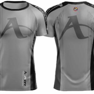 T-shirt Arawaza | dry-fit | grijs-zwart
