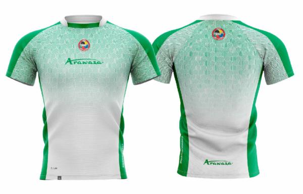 T-shirt Arawaza | dry-fit | wit-groen