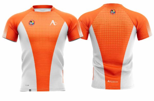 T-shirt Arawaza   dry-fit   oranje-wit