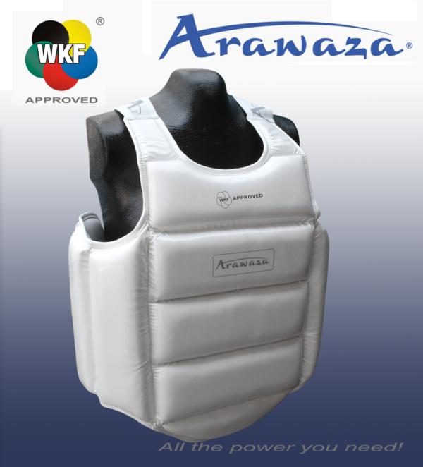 Bodyprotector voor karate Arawaza | U14 WKF | wit