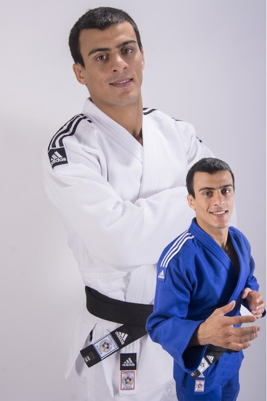 Judopak Adidas Champion II slimfit IJF | wit