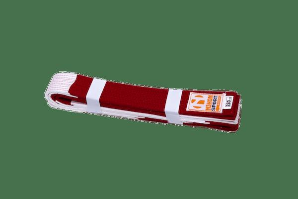 Rood-witte judoband voor 6e dan Nihon   extra stevig