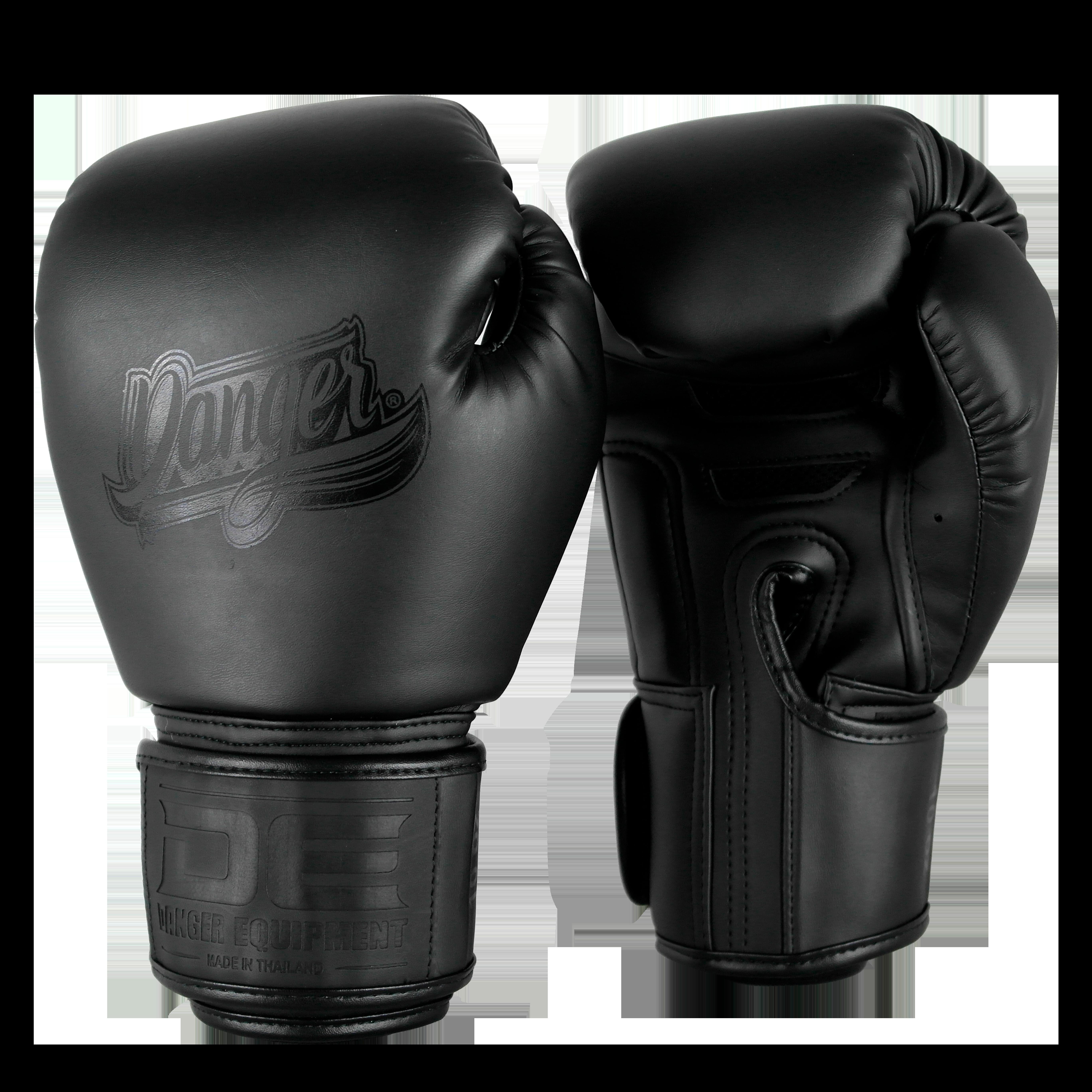 Leren bokshandschoenen Danger Super Max 2.0 | zwart
