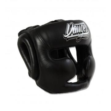 Hoofdbeschermer Danger head guard Pro   semi-leer   zwart