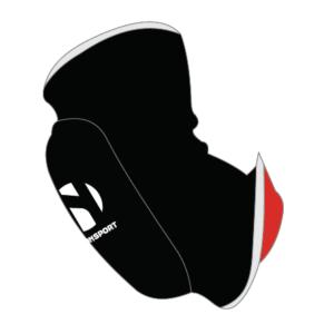 Elleboogbeschermer omkeerbaar Nihon | zwart-rood