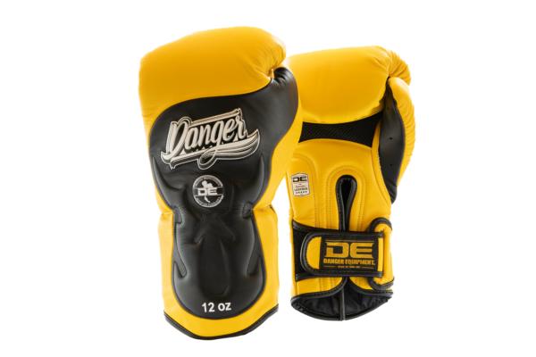 Bokshandschoen Danger Ultimate Fighter | leer | geel-zwart
