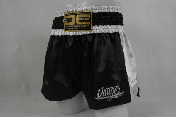 Kickboksbroekje Danger Muay Thai Shorts Eco | zwart-wit