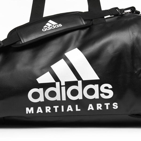 Adidas sporttas en rugzak | PU-leer | zwart met wit logo