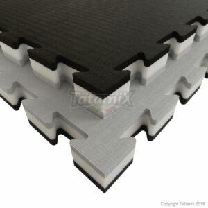 Puzzelmat voor judo Tatamix | 4 cm | zacht | grijs-wit-zwart