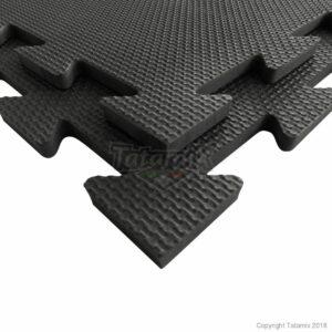 Puzzelmat voor fitness of boksringen Tatamix | 1 cm | zwart