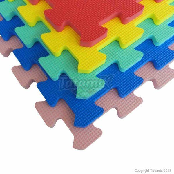 Sport- en spelmat set van 10 Tatamix   1 cm   5 kleuren
