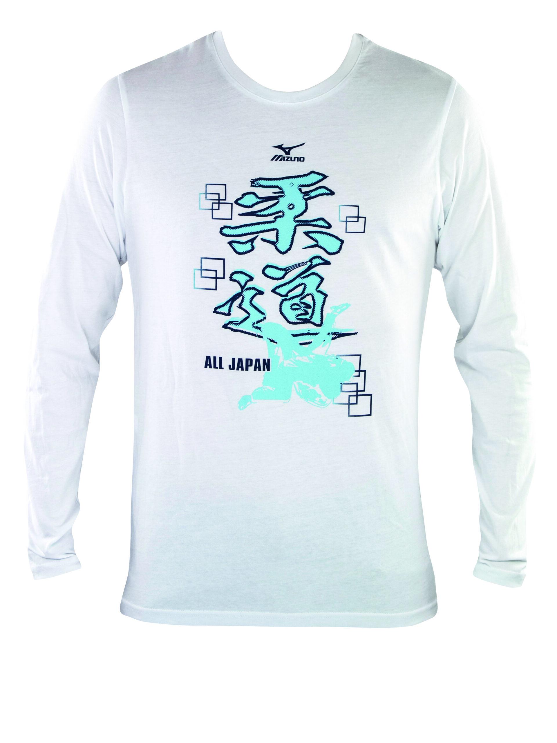 Mizuno Judo T-shirt lange mouw wit