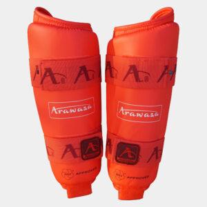 Scheenbeschermers voor karate Arawaza | WKF | rood