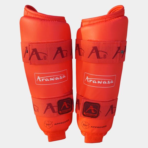 Scheenbeschermers voor karate Arawaza   WKF   rood