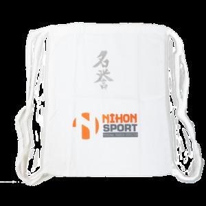 Rugzak Nihon Meiyo | wit met zilverkleurige opdruk