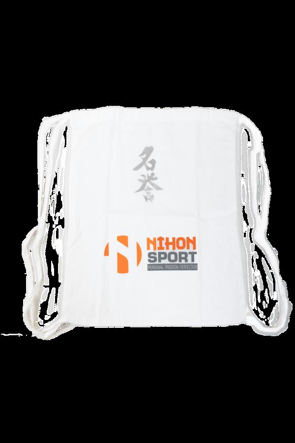 Rugzak Nihon Meiyo   wit met zilverkleurige opdruk
