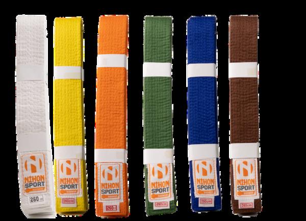 Budo- en judobanden Nihon   stevige kwaliteit   div. kleuren