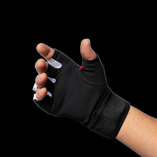 Binnenhandschoen performance quick wrap Nihon   rood-zwart