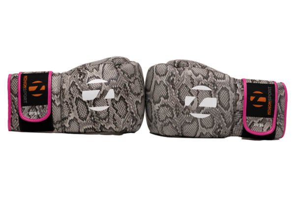 Bokshandschoenen Snake Nihon | slangenprint & roze details
