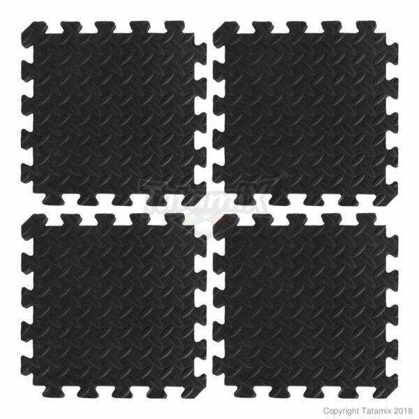 gym & spel Tatamix | 1cm zwart | minimum 10x