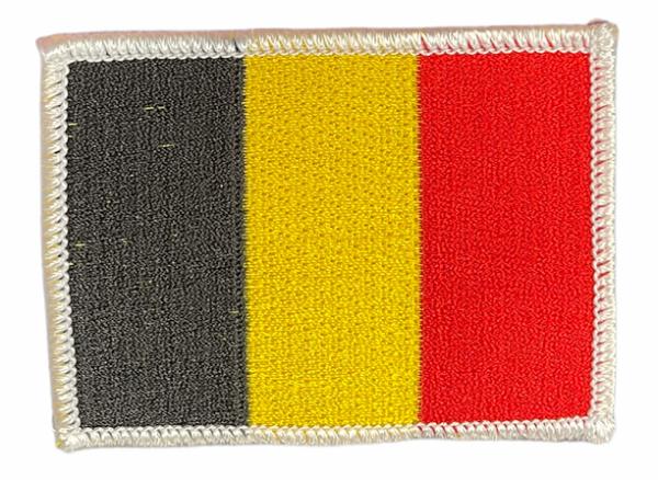 Geborduurde vlag Belgie (embleem 8x6 cm)