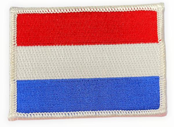 Geborduurde vlag Nederland (embleem 8x6 cm)