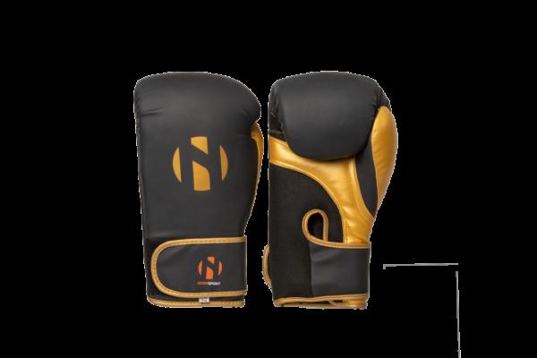 Bokshandschoenen voor trainingen Nihon | zwart-goud