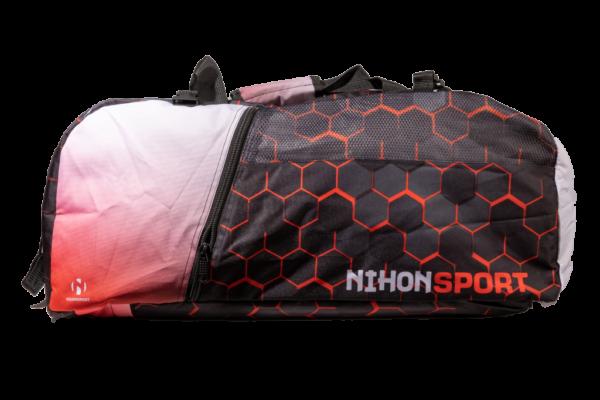 Sporttas en rugzak Honeycomb Nihon   zwart-rood